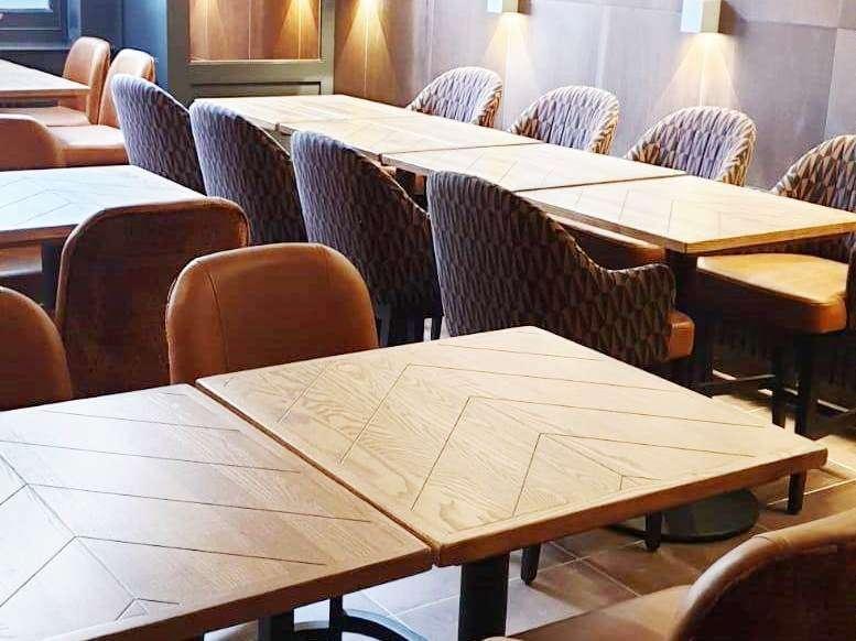 All Bar One Newcastle (19a) - chevron tops Apley Derby stools