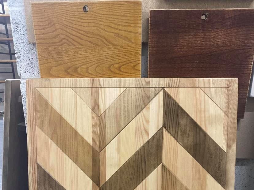 Routed chevron table top (2)