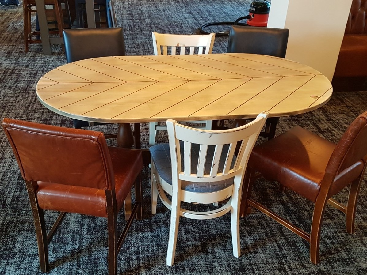 The Old Walnut Tree (7) oval chevron table