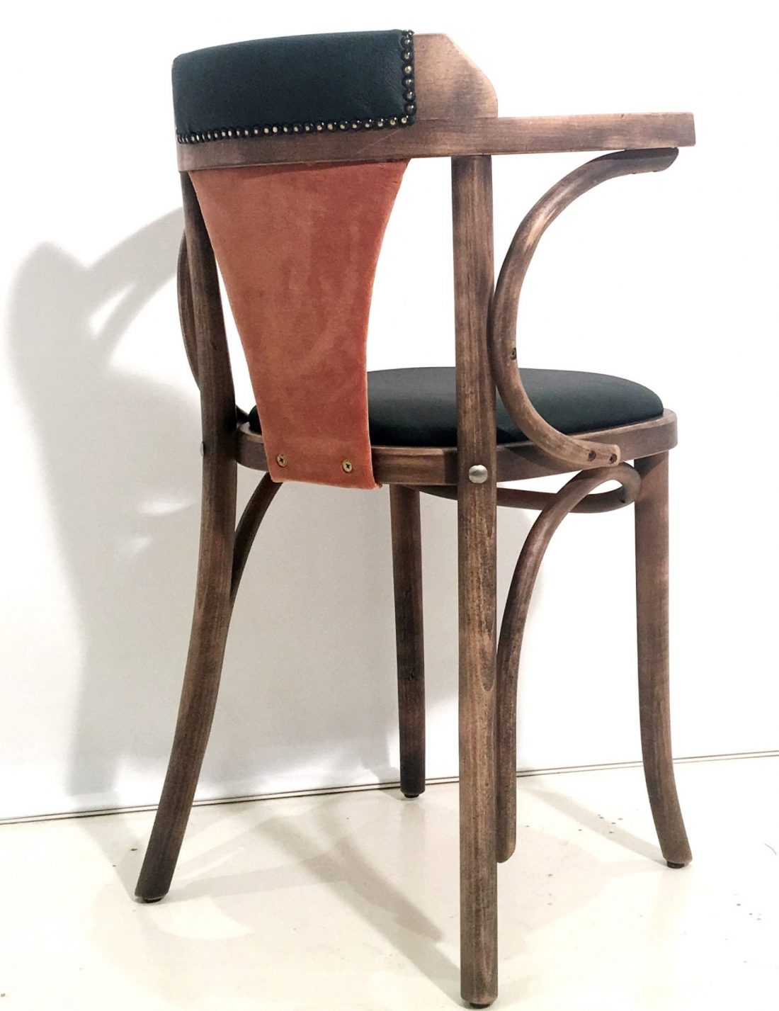 distressed, bentwood, fanback, upholstered